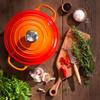 product in gebruik Ronde Braadpan 20 cm Oranje-rood