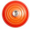 bovenkant Ronde Braadpan 20 cm Oranje-rood