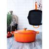 product in gebruik Ovale Braadpan 29 cm Oranje-rood