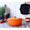product in gebruik Ovale Braadpan 31 cm Oranje-rood