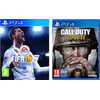 verpakking FIFA 18 PS4 + Call of Duty: WWII PS4