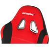 detail Prime Gaming Chair Zwart/Rood