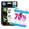 HP 62 2 Packs combinés de cartouches 4 couleurs (N9J71AE)