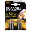 Duracell Plus Power alkaline AAA batteries 4 pieces