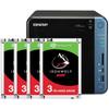 QNAP TS-453Be-4G + 4x 3TB