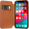 Decoded Leather Slim Wallet Apple iPhone Xr Book Case Bruin