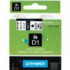Dymo D1 Étiquettes de nom Noir-Blanc (12 mm x 7 m)