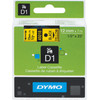 Dymo D1 Name Labels Yellow-Black (12 mm x 7 m) 1 Roll