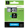 Dymo D1 Name Labels Black-White (19 mm x 7 m)