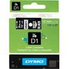 DYMO D1 Tape Wit-Zwart (12 mm x 7 m)