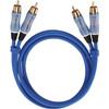 Oehlbach BEAT! Stereo RCA Kabel 1 meter blauw