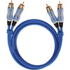 Oehlbach BEAT! Stereo RCA Cable 2 Meters Blue