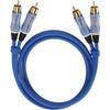 Oehlbach BEAT! Stereo RCA Kabel 2 meter blauw