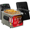 <p>Prepare your fries and snacks at the optimal temperature, in the Fritel Frytastic SF 5150 Turbo. This deep fryer has an adjustable thermostat that plays a sound when the cooking temperature has been reached. The cold zone filters out food scraps, making the oil last longer. The Fritel Frytastic SF 5150 Turbo is also very safe: if it hasn't been used for 2 hours, it switches off automatically. After frying, this Fritel deep fryer can be completely disassembled. This makes it easy to clean by hand or in the dishwasher.</p>