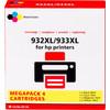 Pixeljet 932/933 Cartouche 4 couleurs XL pour imprimantes HP (C2P42AE)