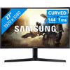 <p>The Samsung LC27FG73FQUXEN is a 27-inch curved QLED monitor that lets you experience your favorite games more intensely than on a flat screen. The screen bends around you, as it were, making the screen look bigger and letting you perceive colors better. The 144Hz refresh rate ensures that images move smoothly in games that you play with a high fps, such as Battlefield 1. In addition,  the monitor's FreeSync technology synchronizes the refresh rate with that of your AMD video card, so you won't experience any tearing or stuttering. Thanks to the QLED panel, the monitor can display even more colors than a conventional monitor. This results in 125% coverage of the sRGB color gamut, giving it lifelike a color representation, which is great for editing photos and videos.</p>