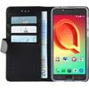 Azuri Wallet Magneet Alcatel A5 Book Case Schwarz