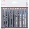 Set de lames pour scie sauteuse 10 pièces Bosch Professional