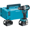 """<p> <p> <ul class=""""unordered-list""""> <li> Maximum torque: 54 Nm and 21 torque positions </li> <li> Maximum drilling capacity wood: 38 millimeters </li> <li> 2 Makita LXT 18 volt 5.0 Ah Li-Ion batteries </li> <li> 1.6 kilograms </li> <li> With stackable Mbox </li> </p> </ul> </p>"""