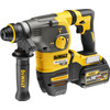 <p> The DeWalt DCH323T2-QW is a combi hammer that looks great on the construction site or in the delivery van of a contractor. With a capacity of 54 volts, an impact force of 4390 beats per minute and 2 included 6.0 Ah batteries, you can drill and break for a long time and with a lot of force. At the same time, the very low vibration level of just 8.5 m / s² ensures that the user works comfortably. Also during heavy work such as drilling anchor and fixing holes in concrete, with a maximum size of 28 millimeters. Attach a chisel in the SDS-plus drill bit and you also perform chisel work in plaster, tiles and grout. Other extras that make the DCH323T2-QW a leading combi hammer are the built-in LED lighting, the brushless motor and the relatively light weight. </p>