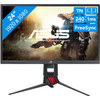 <p>The Asus XG248Q is a 24-inch Full HD gaming monitor with FreeSync and G-Sync support for the gamer that thinks speed is most important. With a native refresh rate of 240Hz and a response time of 1 ms, this monitor is very fast. Tilt, swivel, or adjust the screen in height, so you're ready for the fastest actions during gaming. Thanks to the pivot function, you can also use the screen vertically. The screen projects one of the included ROG logos to your desk, but you can also design your own logo to project. The RGB lighting on the back totally is the cherry on top.</p>