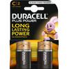 Duracell Plus Power alkaline C batteries 2 pieces