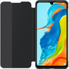 Huawei P30 Lite View Flip Cover Book Case Zwart