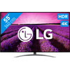 <p>With the LG 55SM9010PLA, you can enjoy crystal-clear images and a wide color reproduction. This 4K television has a NanoCell screen that makes colors true-to-life. Together with the HDR technology, the TV creates a high dynamic range. This makes both very dark and very bright colors clearly visible. The full aray local dimming technique ensures that black is truly black. With the included Magic Remote, you can navigate the WebOS operating system. Here, you get access to apps such as Netflix and YouTube. </p>