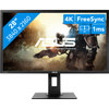 <p>Play games in 4K resolution with the 28-inch ASUS VP28UQGL. Thanks to the high resolution of 3840x2160, you can enjoy the smallest details in your games. The FreeSync technology ensures that the monitor synchronizes well with your video card. The maximum refresh rate is 60Hz, which makes it particularly suitable for console gaming. The 1ms response time counteracts the effect of ghosting, so you won't be bothered by any stripes or fading colors. If you use the GamePlus technology, the monitor helps you with crosshair and timer functions, among other things. This way, you learn how to focus faster and keep track of time in real-time strategy games.<br><br> <strong>Note:</strong> make sure you have an NVIDIA RTX 2080 Super or 2080 Ti for 4K gaming.</p>