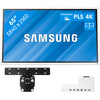 Samsung Flip 2 65 inches with Wall Mount and Connectivity Tray