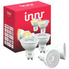 <p>With the Innr Comfort White GU10 Spot 4-Pack, you can expand your smart home with 4 smart spots. This smart lighting lights up in 3 white shades, namely warm white, daylight, and bright light. You can set these shades via the Innr, Hue, or Trådfri app. This allows you to choose the right mood for any time of the day. Choose a bright light to wake up to, for example, and a warm white light in the evening. You can easily select preset lighting scenes in the Innr app. The lights aren't only compatible with the Innr Bridge, but also with Philips Hue and Ikea Trådfri.</p>
