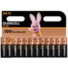 Duracell Alka Plus AA-batterijen 12 stuks