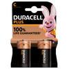 Duracell Alka Plus C batteries 2 units