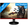 <p> The AOC G2590VXQ is a monitor for novice gamers. The screen's 75Hz refresh rate allows for games like Overwatch to be displayed more smoothly than on a standard screen. Thanks to AMD FreeSync, the graphics remain smooth even when your games run on a lower frame rate. The screen has a response time of 1 millisecond, which ensures you won't be bothered by ghosting in fast-moving images. Thanks to the screen's thin edges, you can line up two of these monitors without losing much of your image. It's a matte screen, which reduces reflections due to the lighting in your room or the sun shining through your window.</p>
