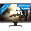 <p>The BenQ EX2780Q is a 27-inch monitor for serious gamers. This monitor has a 144Hz refresh rate, so you'll experience smooth images. FreeSync will match this high refresh rate to the fps of your video card, if you have an AMD video card. Thanks to QHD resolution and a pixel density of 109 PPI, even the smallest detail will look razor sharp. The 10-bit color output ensures beautiful color transitions. In addition, the EX2780Q has an IPS panel. This ensures a high color gamut and a wide viewing angle. The screen has integrated speakers, so you'll be able to hear the sound of your games even without a headset. You can mount the monitor to the wall with a 100x100mm VESA mount. A remote is also included.</p>  <p><strong>Note:</strong> for QHD gaming, you need a powerful video card, such as an NVIDIA GeForce RTX GPU or AMD Radeon RX 5000 series GPU, an Xbox One, Xbox Series X or S, or a PlayStation 5.</p>  <p><strong>Note:</strong> do you use this monitor for console gaming? The maximum refresh rate is 120Hz at 1080p on the PlayStation 5 and 120Hz at 1440p on the Xbox Series X.</p>