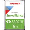 Toshiba S300 PRO Surveillance Hard Drive 6TB HDWT360UZSVA