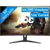<p>Get ready to game with smooth images on the AOC C32G2ZE/BK. This 32-inch gaming monitor has a high refresh rate of 240Hz. This way, the characters and vehicles move very realistically. The 1ms response time prevents motion blur. Your games will run without screen tearing and you'll outpace your opponent. The screen of the C32G2ZE/BK curves according to your field of vision, so you won't have to turn your head to see the whole screen. Do you have an AMD video card? Then the FreeSync Premium will ensure that your monitor and video card are synchronized, so you can game without screen tearing. With the thin bezels, you can easily place 2 or 3 monitors next to each other for an incredible gaming experience.</p>