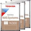 Toshiba N300 NAS Hard Drive 4TB 3-Pack