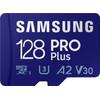 Samsung PRO Plus 128GB microSDXC UHS-I U3 160&120MB/s, FHD & 4K UHDSpeicherkarte mit Adapt