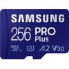 Samsung PRO Plus 256 GB microSDXC UHS-I U3 160 & 120 MB/s, FHD & 4K UHD-Speicherkarte mit