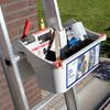 product in gebruik Altrex Laddercaddy