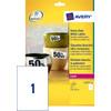 Avery Ultrasterke Etiketten Wit 210x297mm 20 vellen