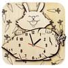 Wandklok Geschilderd Rabbit - 2