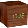 Cube Click Clock Walnoot/Groen