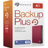 verpakking Backup Plus Portable 4 TB Rood