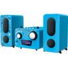 voorkant Microset Radio/CD Speler Blauw
