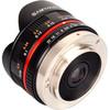 rechterkant 7.5mm f/3.5 Micro Four Thirds zwart