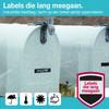 visual leverancier D1 Label Wit-Zwart (12 mm x 3 m)