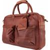 rechterkant The College Bag Cognac