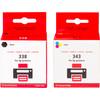verpakking 338/343 Cartridge 4-Kleuren (SD449EE)
